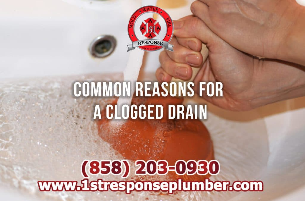 Common Reasons For A Clogged Drain in Chula Vista